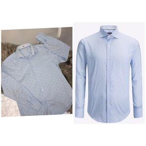 BUGATCHI Blue Long Sleeve shirt 100% cotton, XL